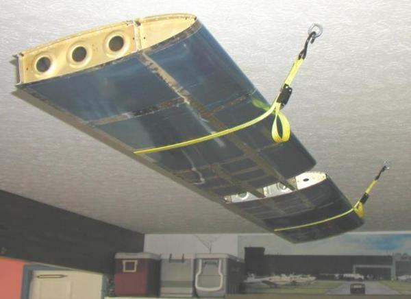 The Horizontal Stabilizer Flying from my Garage Ceiling