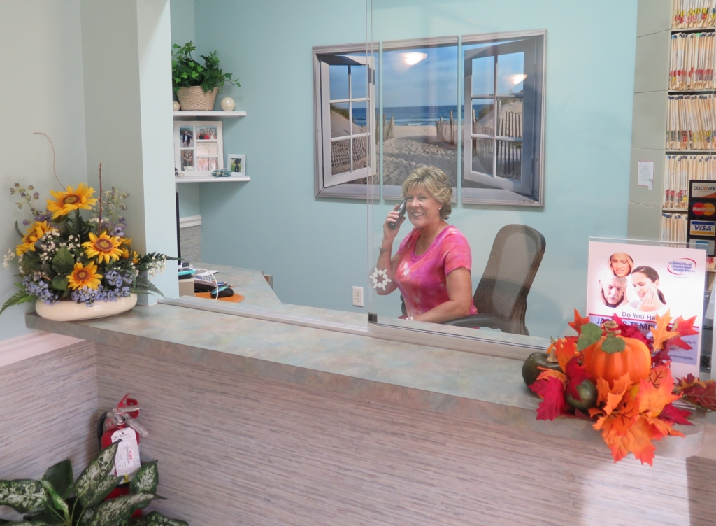 Mary-Ellen at the Front Desk